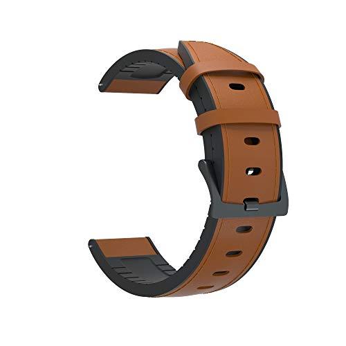 YMYGCC Correa Reloj Reloj de Correa de Reloj de 22 mm para 2 GT 2 46mm GT 42mm Banda de Cuero Genuino Pulsera de Silicona 711 (Band Color : Brown, Band Width : GT 46mm)