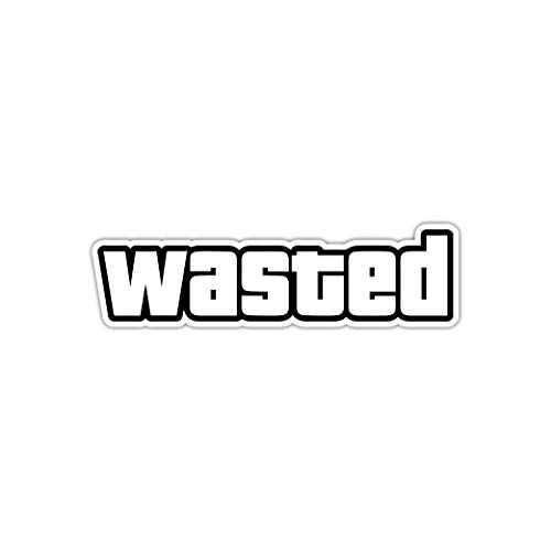 Wasted GTA Gaming Vinyl Sticker Decal 2.5'