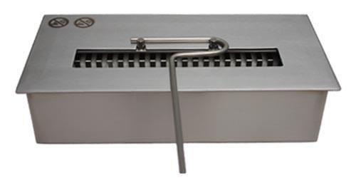 Deka Interieurbouw Bruciatore Regolabile da Camino bioetanolo Decorativo da Tavolo Acciaio Inox 1,5 Litri /