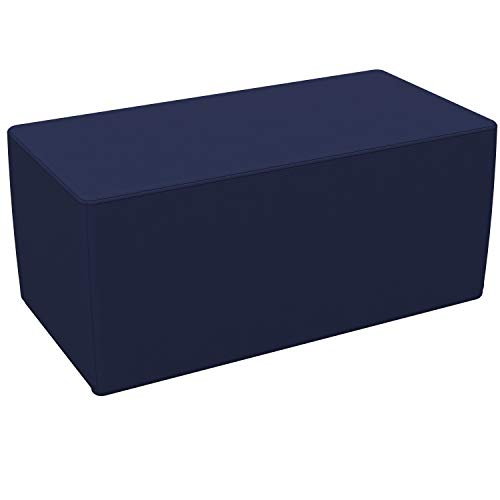 FDP SoftScape 18' x 36' Rectangle Ottoman, Collaborative Flexible Seating for Kids, Teens, Adults Furniture for Classrooms, Libraries, Offices and Home, Standard 16' H - Navy