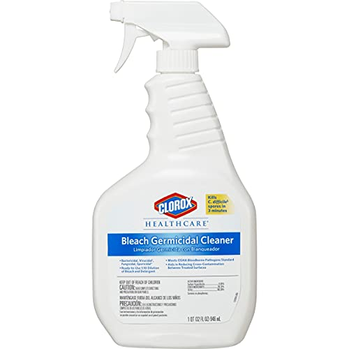 Clorox Healthcare Bleach Germicidal Cleaner Spray, 32 Ounces (68970)