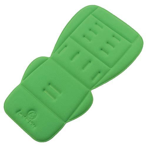 Forro polar para asiento de cochecito de bebé, universal, cálido y cómodo, cojín para asiento de cochecito de bebé, acolchado, para invierno verde Apple Green Fleece Talla:78cm