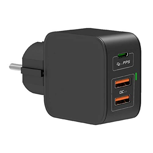 New Net – USB C Cargador de pared múltiple 65 W Power Delivery Cargador Type C con GaN Tech Cargador USB de pared para Mac Book i Phone 11/11 PRO/PRO Max/XS Pixel Nintendo Switch ECC.