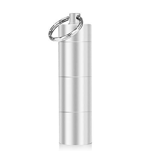 Opret Pillenbehälter, wasserdicht, für Flaschen, Schlüsselbund, aus Aluminium, für Outdoor, Reise, Camping, erste Hilfe, Flasche für Pillen, tragbar