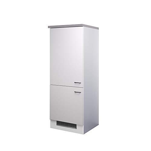 Flex-Well Midi-Kühlschrankumbauschrank UNNA | Umbauschrank für Kühlschrank | 2-türig | Breite 60 cm | Weiß