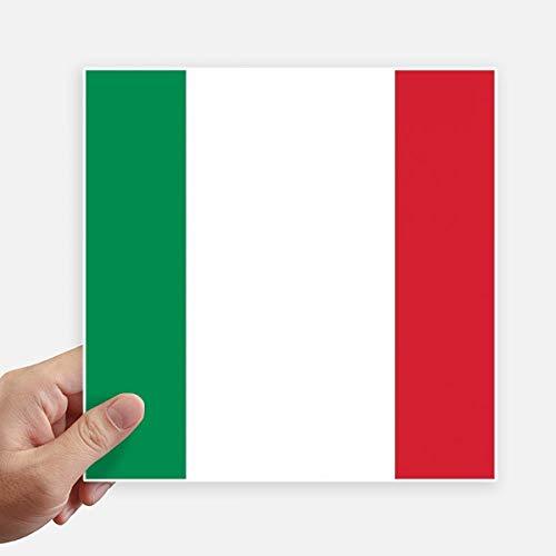 DIYthinker Drapeau National Italie Europe Country Square Autocollants 20CM Mur Valise pour Ordinateur Portable Motobike Decal 4Pcs 20Cm X 20Cm Multicolor