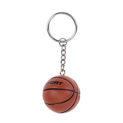 Amosfun Rugby Basketball Fußball Schlüsselanhänger Lustige Schlüsselband PU Taschenanhänger Auto Schlüsselring Anhänger Geschenk für Kinder Damen Herren