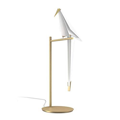 ASDAD Led Bird Design Lámpara De Mesa Lámpara De Pared Lámpara De Noche Creativo Origami Paper Crane Luz De Pared para Loft Dormitorio Estudio Vestíbulo Comedor