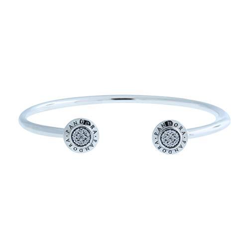 Pandora Damen-Armreif 925 Silber Zirkonia weiß 19 cm - 590528CZ-3