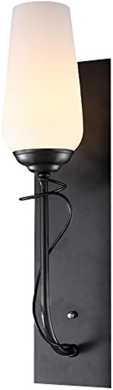 Amerikanische Wandleuchte Wohnzimmer Bett Nachttisch Lampe Retro Land Eisen Wand Lichter Gang Korridor Licht Treppenhaus Wand Licht