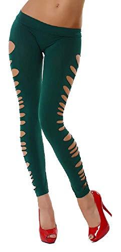 Legging - broek - lang - vrouw - meisje - gekleurd - gescheurde zijkant - zijkant - tranen - bezuinigingen - stretch - mode - zomer - cadeau-idee