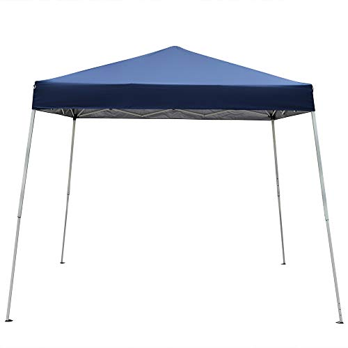 8 X 8 FT Pop-Up Canopy Tent Commercial Instant Shelter Tent Portable Waterproof Folding Event Tent Pavilion Easy Set-up Straight Leg Folding Shelter (8 x 8 FT, Blue)