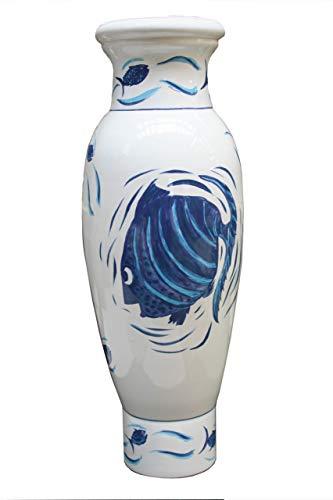 Faïencerie de Niderviller ~ XXL Grote getijden aardewerk vaas