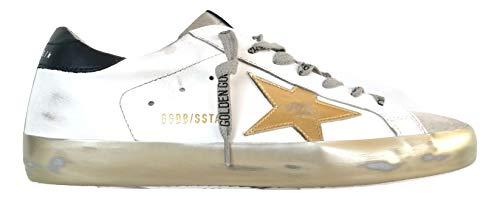 Golden Goose G36MS590.T80 - Zapatillas deportivas para hombre vintage, color blanco y negro Blanco Size: 44 EU