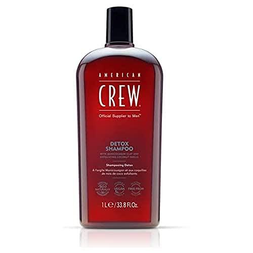 American Crew Detox Shampoo Uomo Men Haircare Detergente ed Esfoliante per Cuoio Capelluto e Capelli da Normali a Grassi - 1000 ml