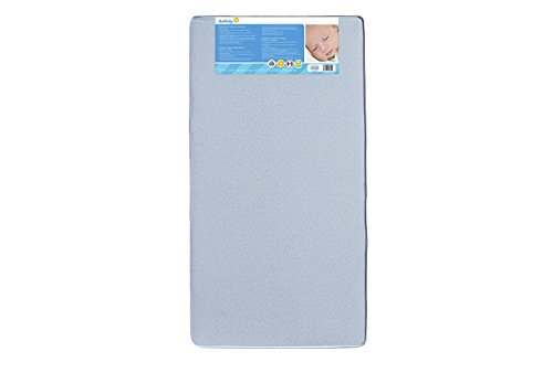 Safety 1st Heavenly Dreams Blue Crib & Toddler Bed Mattress for Baby & Toddler, Water Resistant, Lightweight, Hypoallergenic, Green Guard Gold Certified, Light Blue