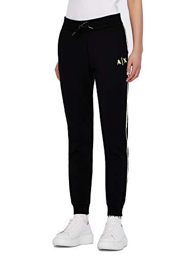 ARMANI EXCHANGE Sporty Sweatpants Pantaloni Sportivi, Nero, M Donna