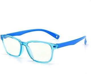 نظارة مضادة للضوء الازرق وتوفر حماية من الاشعة واشعاع العاب الكمبيوتر للاطفال، اطار لون ازرق