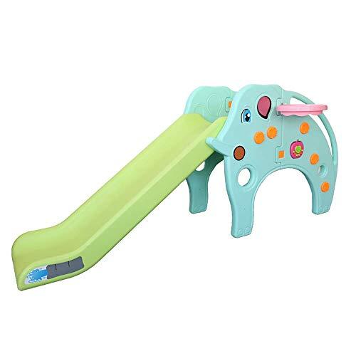 La combinación del marco de baloncesto de diapositiva de juguete for niños, dibujos animados bebé elefante de diapositivas, respetuoso del medio ambiente plástico, adecuado for niños 1-6 años WTZ012
