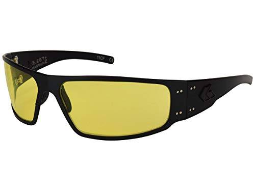 Gatorz Magnum Z Aluminum Frame, ANSI Z87 Safety Sunglasses-Blackout/Smoked Lens