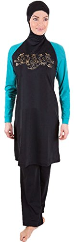 Burkini, ropa de baño musulmana para mujer Gold Print L