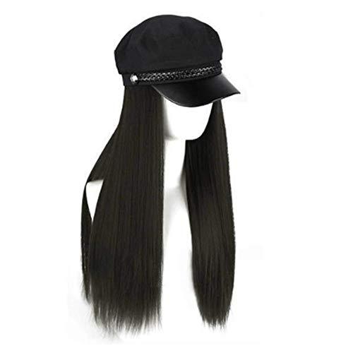 Preisvergleich Produktbild YWJPJ. Perücke Weiblich Lange Haare Haben EIN Weiblicher Langer Glatter Haar Herbst Und Winter Voller Kopfbedeckung, D