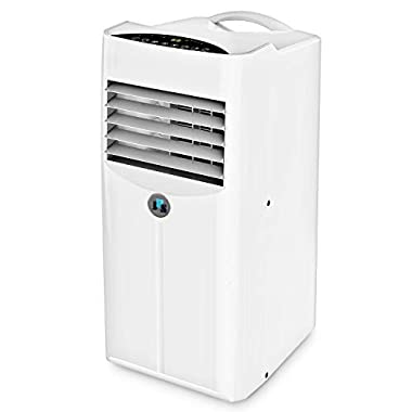 JHS 10,000 BTU Powerful Portable Air Conditioner Portable AC Unit, A001-10KR/D Remote Control Air Cooler Dehumidifier with Timer, Sleep Mode and 2 Fan Speed