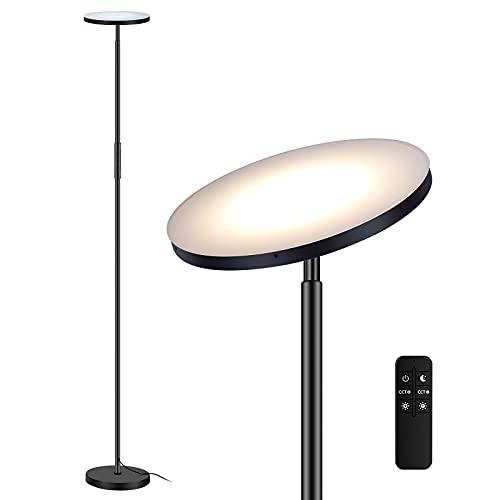 Wixann LED Stehleuchte Dimmbar, 24W 2000LM superheller Deckenfluter, Moderne Stehleuchte mit 4 Farbtemperaturen 2700K-6500K, stufenlos dimmbar, Stehleselicht für Wohnzimmer, Schlafzimmer, Büro