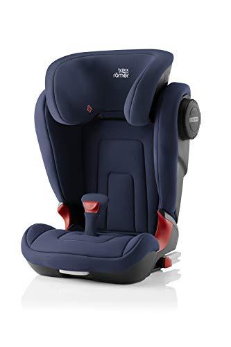 BRITAX RÖMER Silla de coche KIDFIX 2 S, con protectores laterales, niño de 15 a 36 kg (Grupo 2/3) de 3.5 años a 12 años, Moonlight Blue