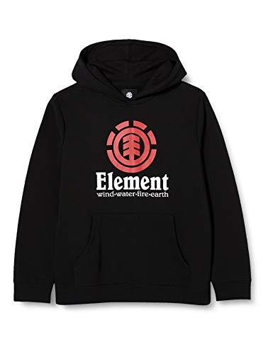 Element Vertical - Sudadera con capucha para Chicos Sudadera con capucha, Niños, Flint Black, 14
