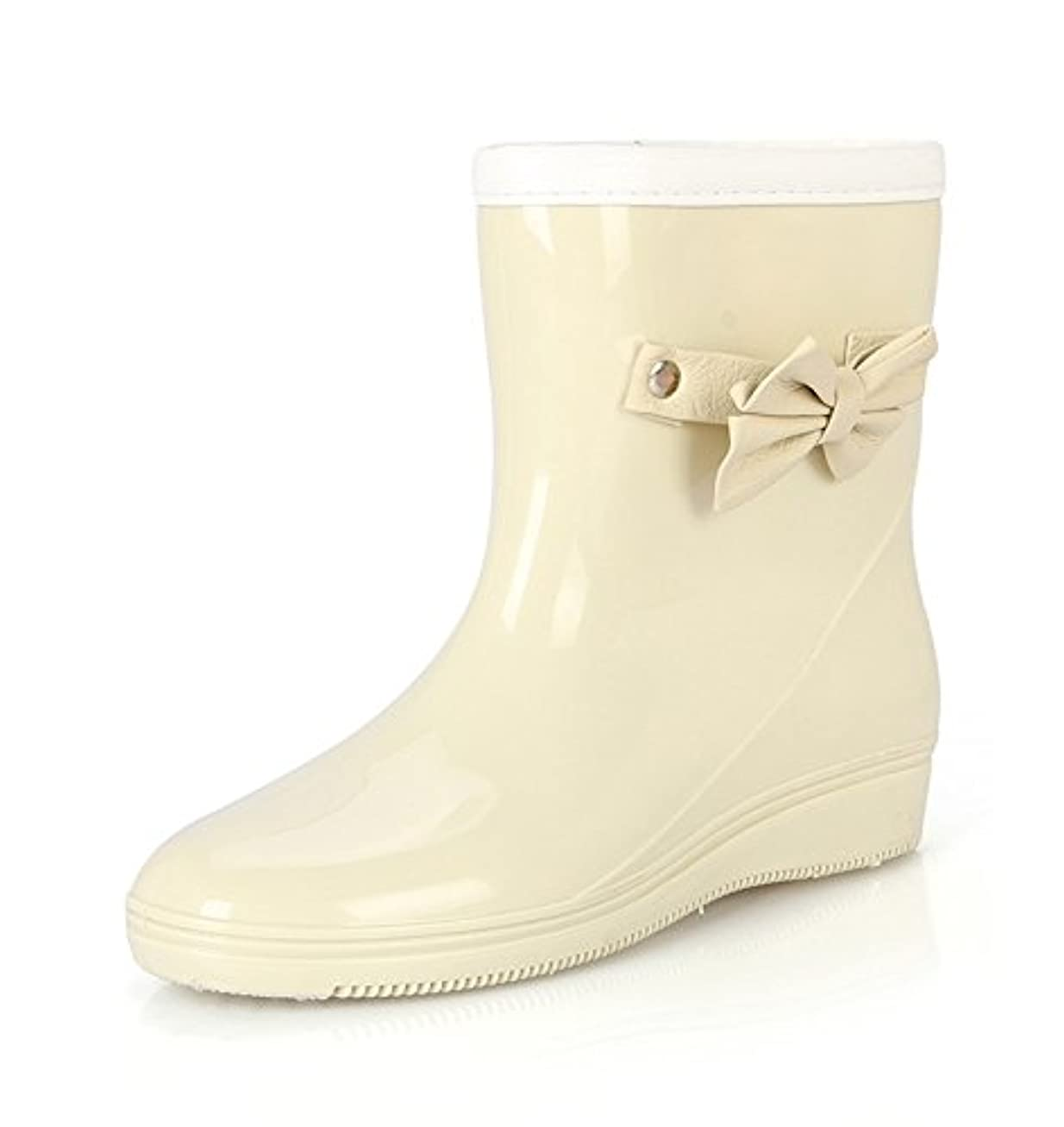 静める男弾薬[RyuRyu] レインシューズ 梅雨の時期に大活躍/レインブーツ/レディース 女性用/雨靴/長靴/滑り止め付/完全防水/雨の日用 保温性、通気性