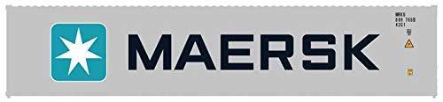 Atlas Escala N Contenedor 40 Pies Maersk 3 Pieza