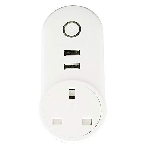 YMXLJJ 10A WiFi Smart Socket, Smart Wireless Sockets, WiFi Plug Kompatibel mit Alexa Echo Google Home, Smart Outlet Remote und Sprachsteuerungs-Timing-Funktion, Kein Hub Erforderlich
