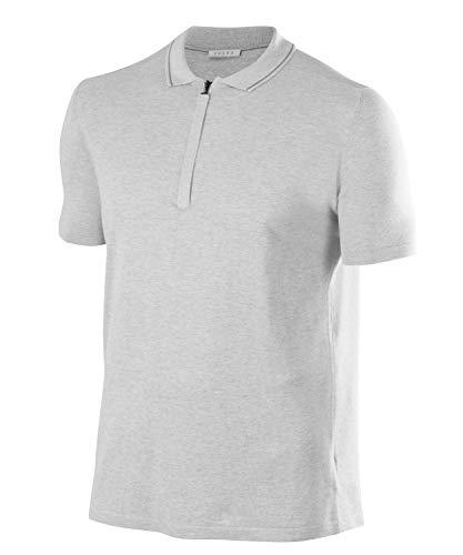 FALKE Herren Polo Tadao, Seide/Leinen, 1 Stück, Weiß (White 2860), Größe: XXL