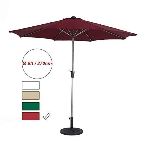 LY88 Parasols 9 Voeten Patio Paraplu Outdoor Tuin Tafel Paraplu Met Kraan, Draagbare Zonwering Voor Market Deck Porch Achtertuin Zwembad Zijde