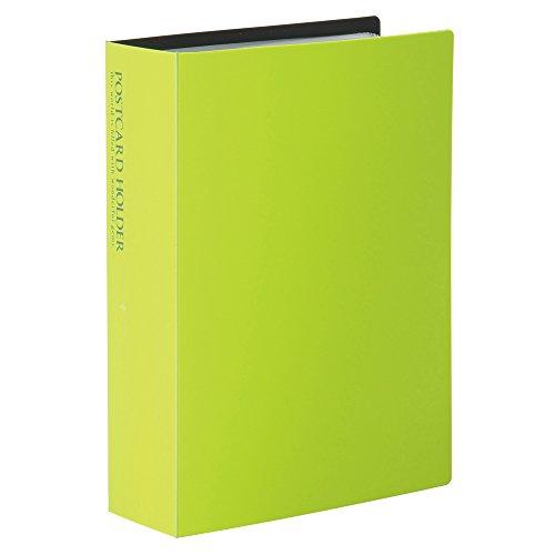 SEKISEI アルバム ポケット ポストカードホルダー 高透明 ハガキサイズ120枚 ライトグリーン ハガキ 101~150枚 黄緑色 KP-60PKP-60P-33