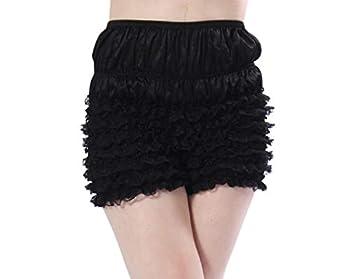 Malco Modes Womens Sexy Ruffle Panties Tanga Dance Bloomers Sissy Booty Shorts  Black Small