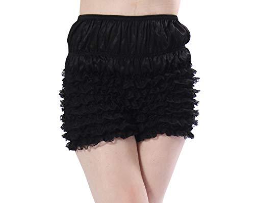 Malco Modes Womens Sexy Ruffle Panties Tanga Dance Bloomers Sissy Booty Shorts (XX-Large, Black)