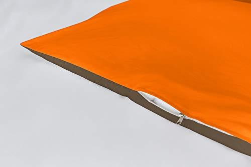 Lucena Cantos - Funda de cojín Bicolor, (Naranja/Choco, 2 Fundas de Cojín...