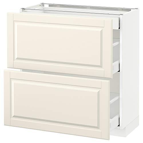 METOD/MAXIMERA Unterbaukabine mit 2 Fronten / 3 Schubladen 80x39,5x88 cm weiß/Bodbyn offwhite