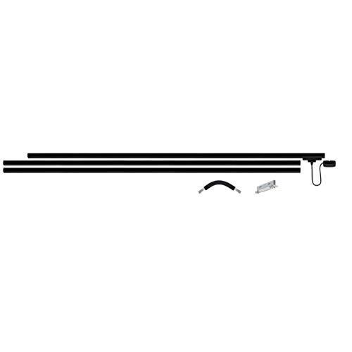 Paulmann URail Basis Set 3x1m Schiene, Metall, Schwarz matt, max 1000W, 230V, Schienensystem, Deckenlampe, Deckenleuchte