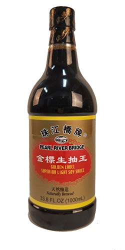Pearl River Bridge Light Soy Sauce PET Bottle, Golden Label, 33.8 fl. Oz