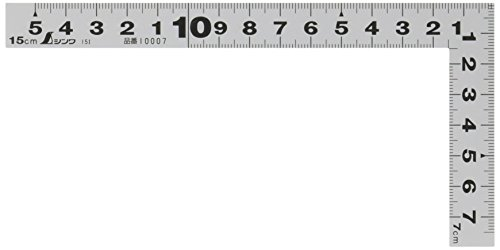 シンワ測定(Shinwa Sokutei) 曲尺平ぴた シルバー 15�p 建築・鉄工用 表裏�p目盛 10007