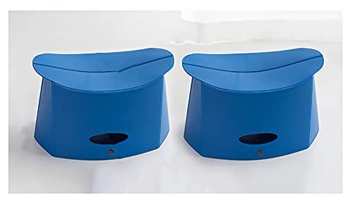 LJWLZFVT Silla Plegable Taburete Plegable Taburete de plástico Ligero, Plegable y portátil es la Mejor opción para picnics en la Cocina al Aire Libre No Requiere ensamblaje-Azul 32x18x18.5cm