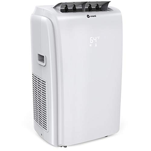 Vremi 14,000 BTU Portable Air Conditioner with Heater Mode - Conveniently Cools Rooms 500 to 650 Square Feet - LED Display, Auto Shut-Off, Remote and Dehumidifier Function