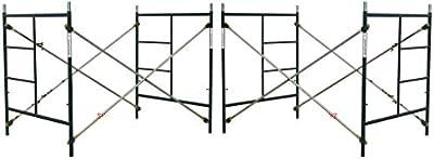 2 Sets of Scaffold masonry frame 5' x 5' x 7' Scaffolding with Cross Brace and Coupling Pins CBM1290