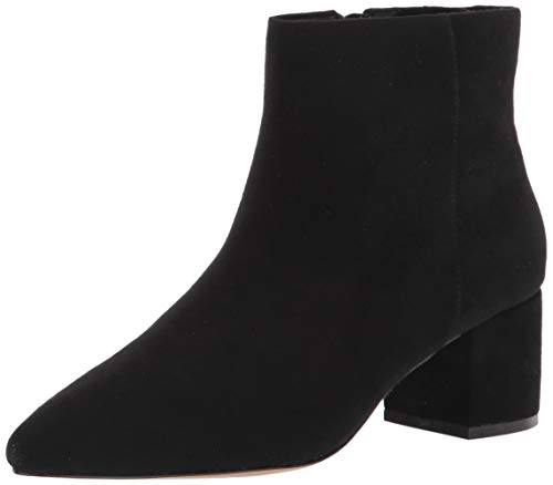 The Drop Jessi Botas con Cremallera Lateral Y Tacón Ancho - Ankle Boot Mujer