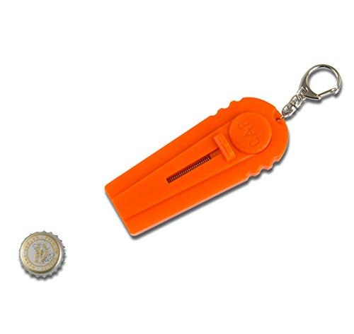 lzy-Store Flying Cap Zappa Flaschenöffner Cap Launcher Fancy Bier Öffner mit Schlüssel Ring