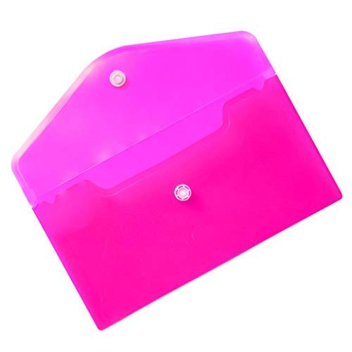 Productos de Ordenamiento PP Bolsa Tarjetas Archivos de Papel Bolso del lápiz Borrador de papelería Organizador del almacenaje de la Caja del Filtro, Rojo de Rose