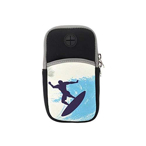 Bolsa de deporte con diseño de dibujos animados para teléfono móvil, para correr, unisex, universal, para brazo, para fitness, muñeca y deportes (color: B, tamaño: 16 x 8,5 cm)
